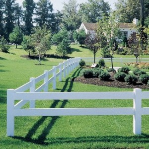 2 Rail Vinyl Horse Fence