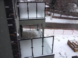 CSW Black Clear Glass Railing
