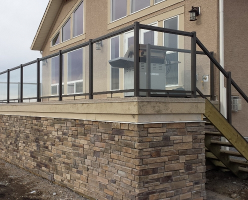 CSW Bronze Clear Glass Railing 2