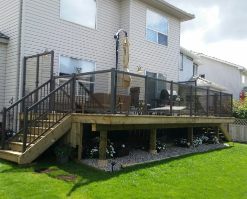 CSW Bronze Clear Glass Railing 4