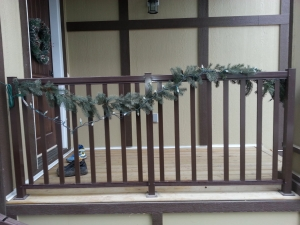 CSW Brown Wide Picket Railing 2