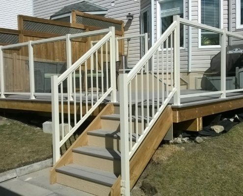 Cream Glass Railing 2