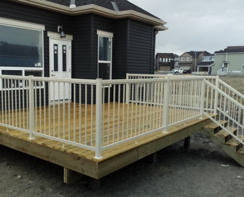 Cream Picket Railing