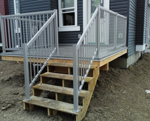 Silver Picket Railing 3