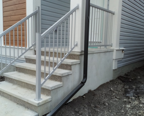 Silver Picket Railing