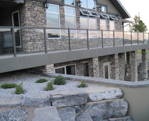 Titanium Clear Glass Railing 4