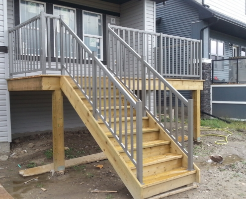 Titanium Wide Picket Railing 2