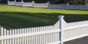 white vinyl pvc fence installed